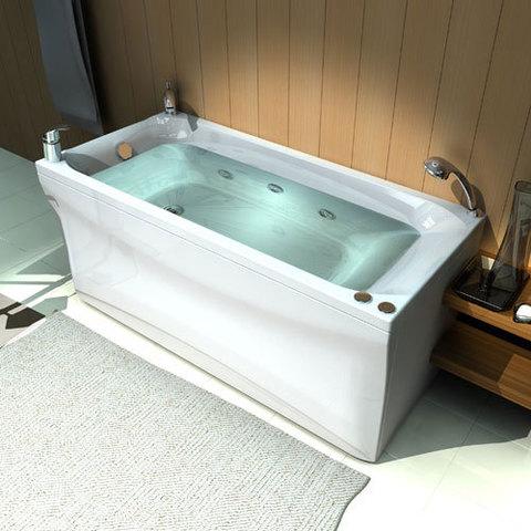 Ванна акриловая Aquatek Альфа 140х70см. накаркасе с сливом-переливом.