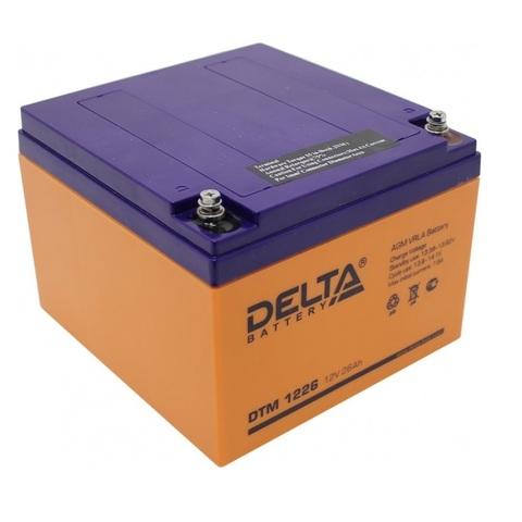 Аккумулятор Delta DTM1226 (12В 26А/ч)