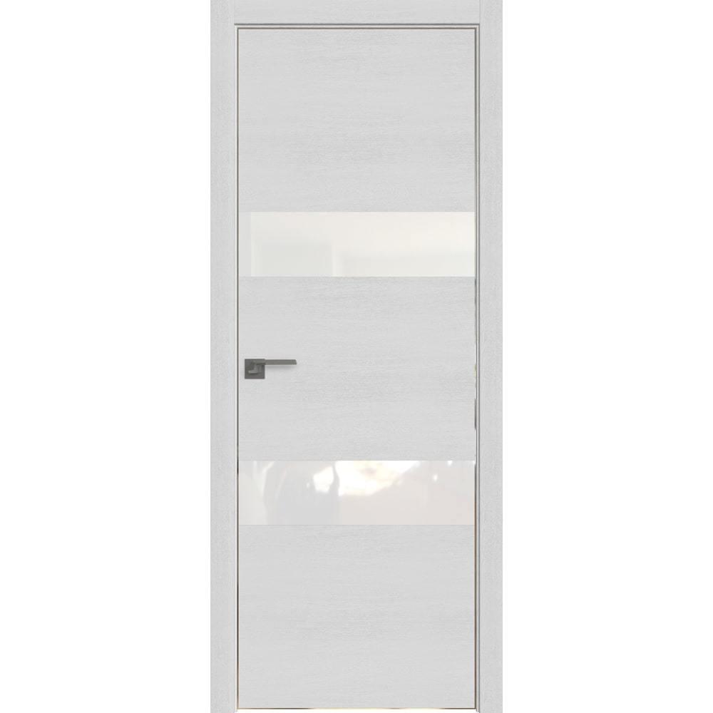 С врезанной фурнитурой Межкомнатная дверь экошпон Profil Doors 34ZN монблан с алюминиевой кромкой Eclipse с белым стеклом 34-zn-monblan-belyy_lak-copy-min.jpg