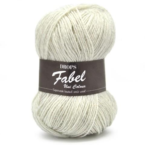 Пряжа Drops Fabel 114 светлый жемчужно-серый