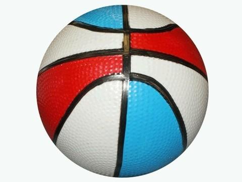 Мячик надувной баскетбольный цветной. Диаметр 14 см: 14-БЦ