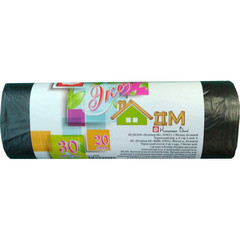 Мешки для мусора на 30 л Концепция быта Экодом черные (ПНД, 6 мкм, в рулоне 20 шт, 48х58 см)