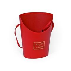 Коробка Для Цветов «Конус усеченный» Маленький Красный, 15,5см*12см*19см, 1 шт.
