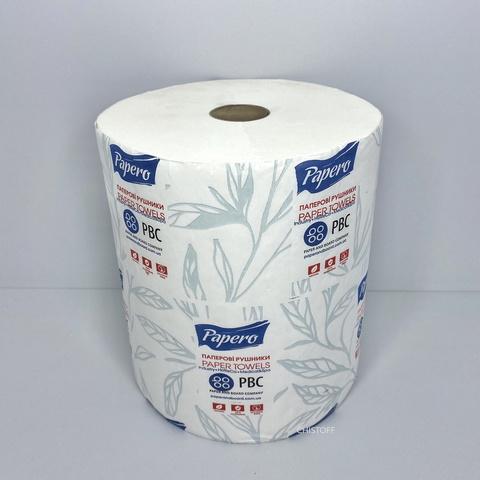 Полотенце бумажное Papero Джамбо 2сл. 120 м без перфорации вес 19 г белое (RL025)