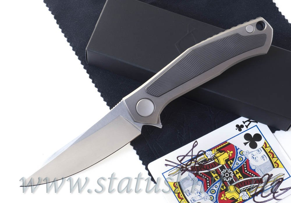 Нож Широгоров Born in Vegas - Cards V Black King SIDIS дизайн - фотография