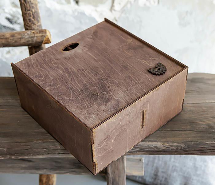 BOX235-3 Коробка для подарка с двумя отделениями (25*25*12 см) фото 05