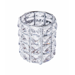 Подставка для кистей с кристаллами, цвет серебро
