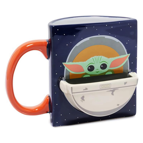 Кружка керамическая Funko Star Wars Mandalorian The Child Drink Time Figural Mug 420 ml UT-SW06488