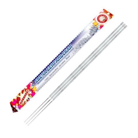 Свеча бенгальская 400 мм (3шт), Белый снег, уп