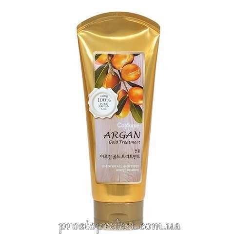 Welcos Confume Argan Gold Treatment - Маска для волос и кожи головы с 24 каратным золотом