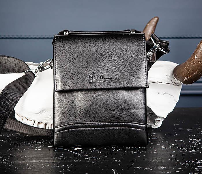 BAG560-1-5 Мужская сумка из кожи с ручкой и ремнем фото 02