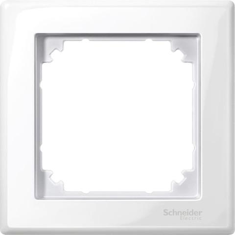 Рамка на 1 пост. Цвет Полярный белый. Merten. M-Smart System M. MTN478119