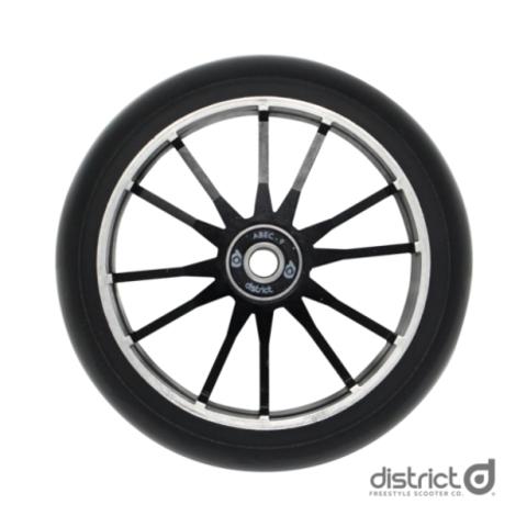 Колесо с подшипниками для самоката District 120x30 Wide Wheel Twin Core Black/Black