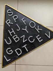 31641- Кулон буква H из серебра с ослепительными цирконами