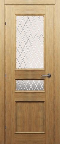 Дверь 3044 (орех бискотто, остекленная CPL), фабрика Краснодеревщик