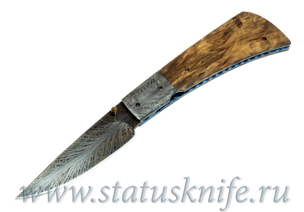 Нож Kevin Casey Damascus Tasmanian