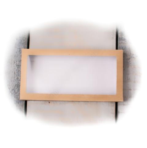Коробка для плитки шоколада 100г. 16×8×1см ( крафт)