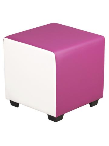 Комби пуфик квадратный (бело-розовый) для дома и магазина