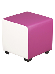 Пуфик-комби (бело-розовый) для дома и магазина