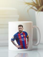 Кружка с изображением Лионель Месси (Lionel Messi) белая 006