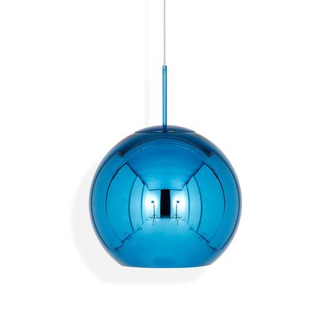 Подвесной светильник копия Copper shade by Tom Dixon (синий, D20)