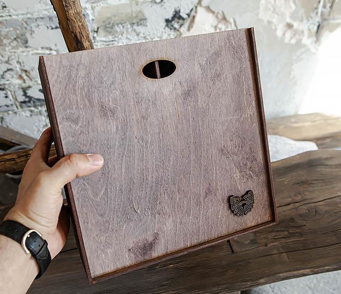 BOX235-3 Коробка для подарка с двумя отделениями (25*25*12 см) фото 06