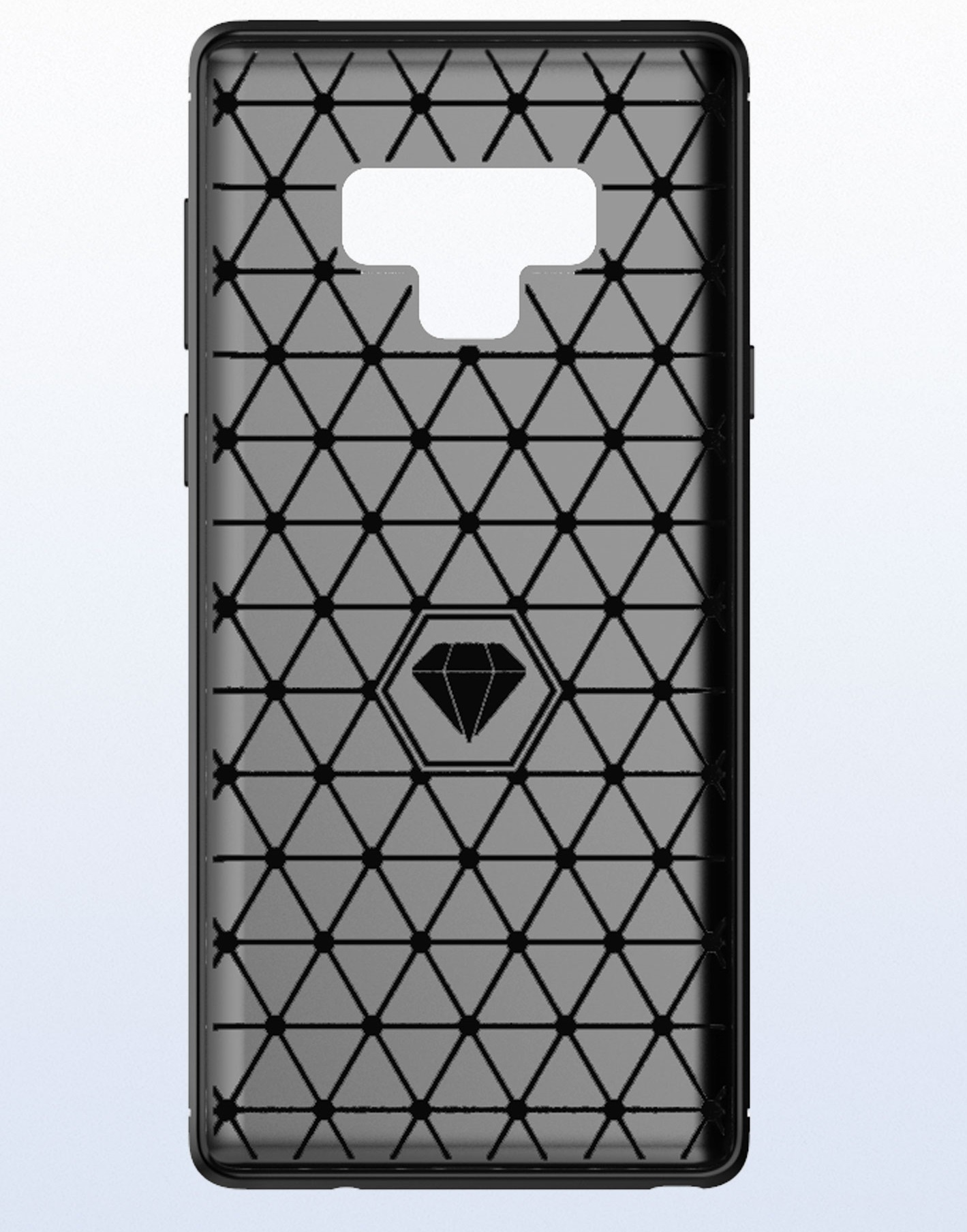 Чехол Samsung Galaxy Note 9 цвет Gray (серый), серия Carbon, Caseport