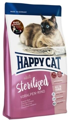 Happy Cat Supreme Sterilised сухой корм для стерилизованных кошек (альпийская говядина) 300г