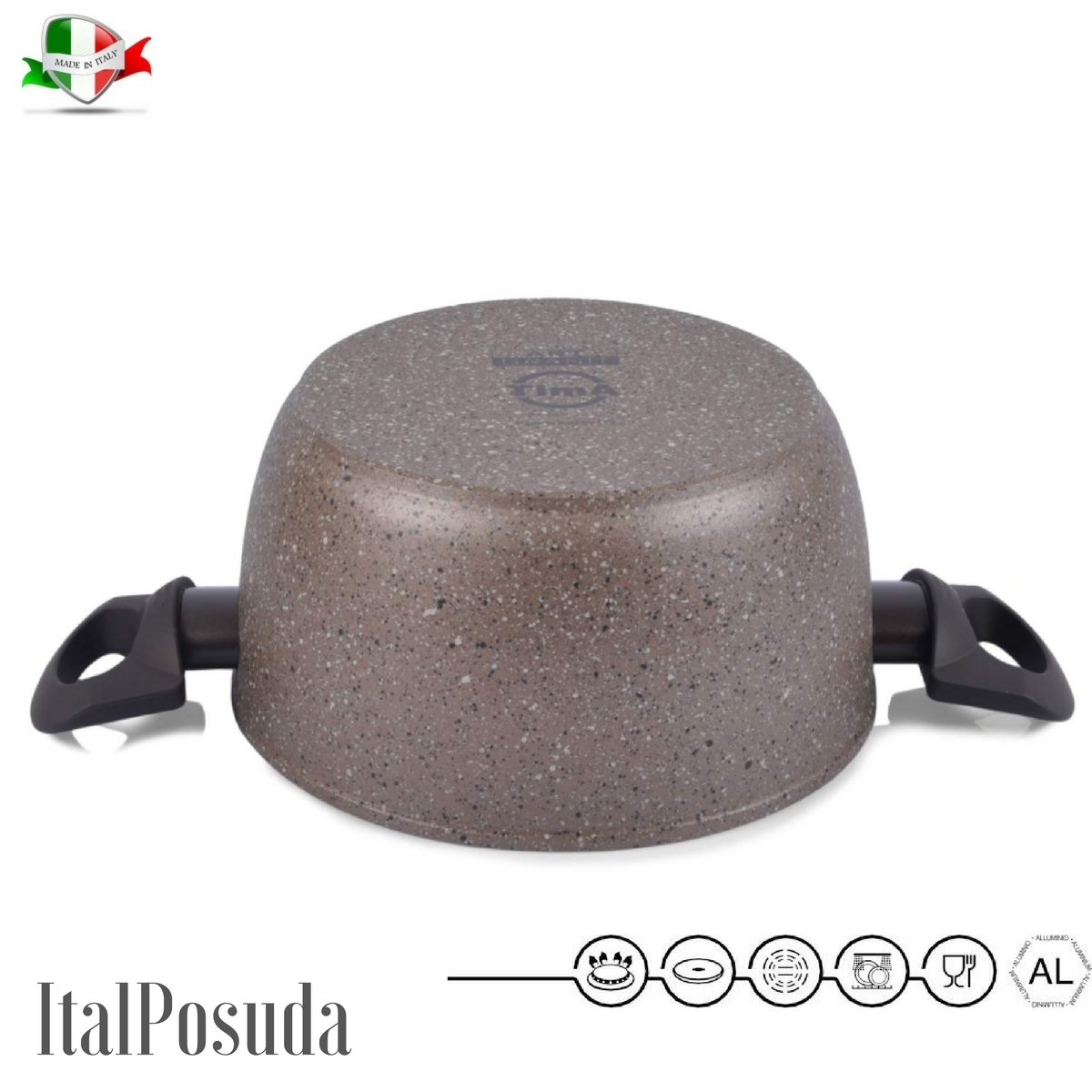 www.ital-posuda.ru. Кастрюля TIMA Art Granit индукционная 24 см /4,5 литра