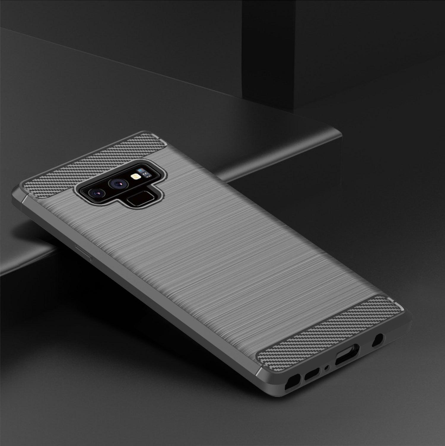 Чехол для Samsung Galaxy Note 9 цвет Gray (серый), серия Carbon от Caseport
