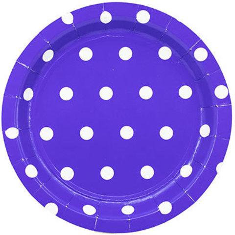 1502-3922 Тарелки большие Горошек синие, 23 см., 6 шт