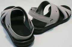 Удобные босоножки сандалии мужские кожаные Ikoc 3294-3 Gray.