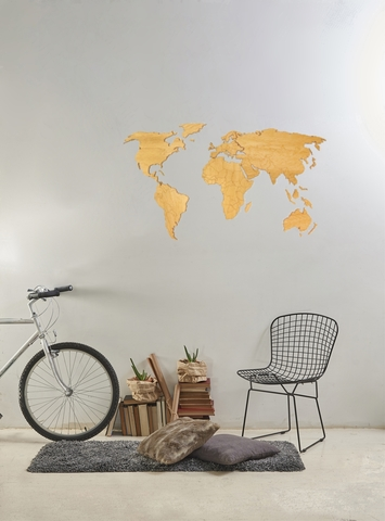 Карта мира La Contre'e 120x55 cm дуб