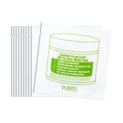 Очищающие пэды PURITO Centella Green Level All In One Mild Pad 10шт.