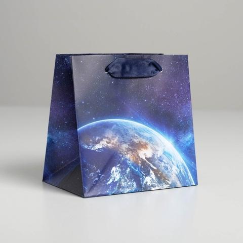 Пакет ламинированный квадратный Космос, 14*9 см