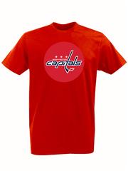 Футболка с принтом НХЛ Вашингтон Кэпиталз (NHL Washington Capitals) красная 001