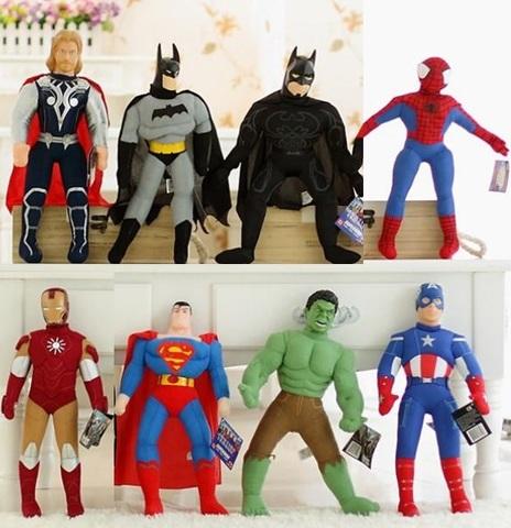 Набор мягких игрушек из Марвел 8 шт 40 см