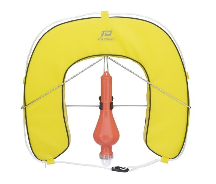 Horseshoe buoy with removable cover