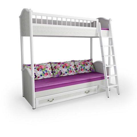 Кровать детская 2-ярусная с лесенкой