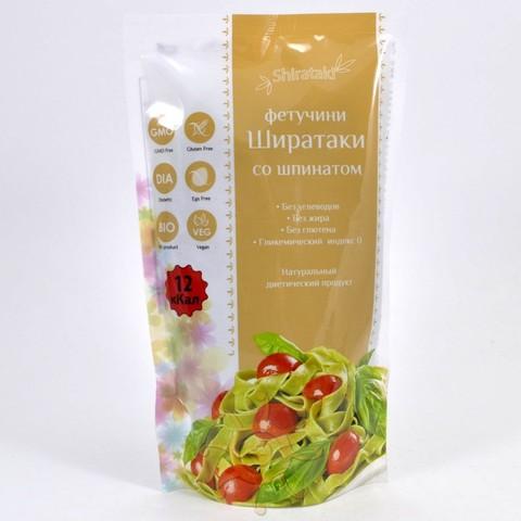 Фетучини со шпинатом низкокалорийные Ширатаки, 340г