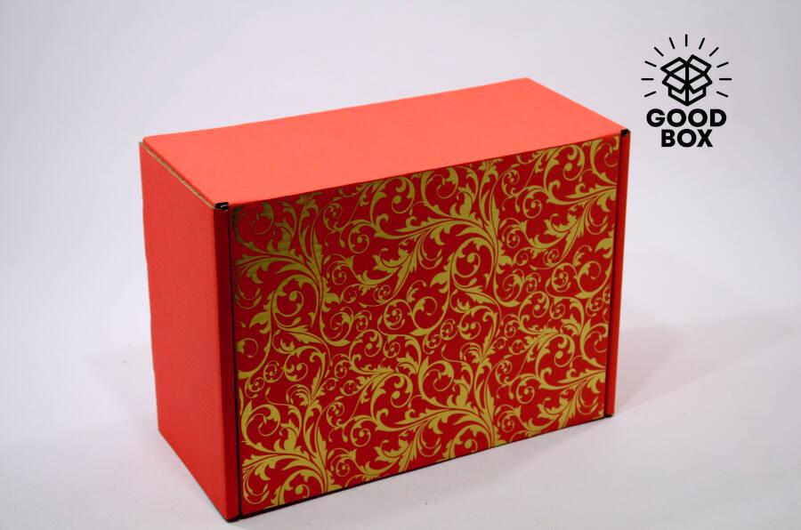 Большая красная подарочная коробка купить