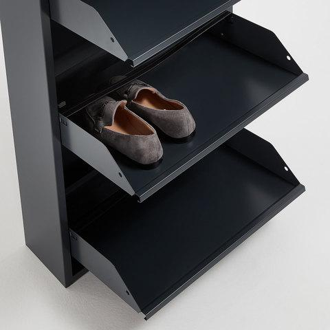 Полка для обуви Rox 3 двери металлическая графит