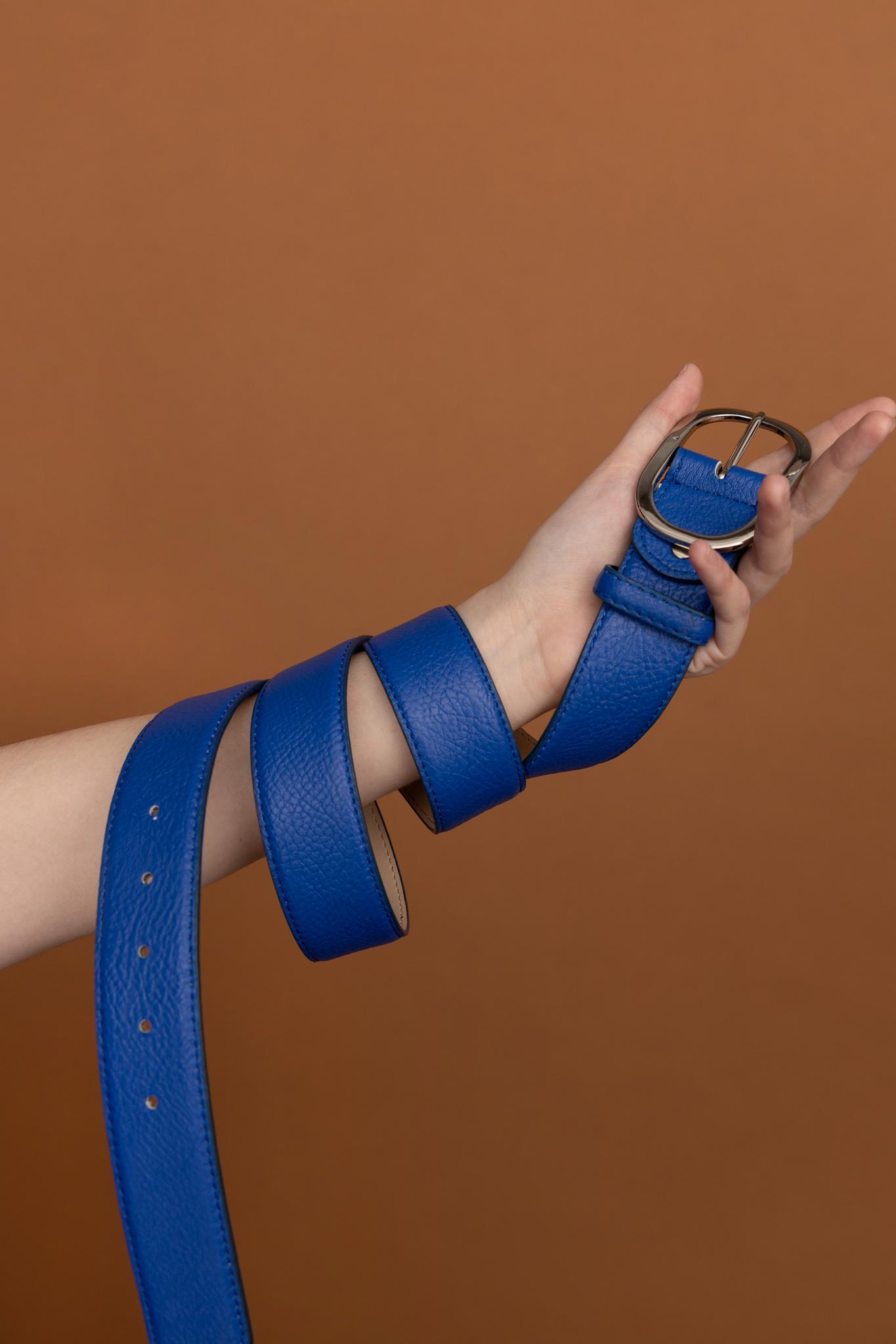 Ремень синий