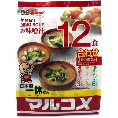 Мисо-суп быстрого приготовления Иккюсан Ассорти 12 порций, 270г