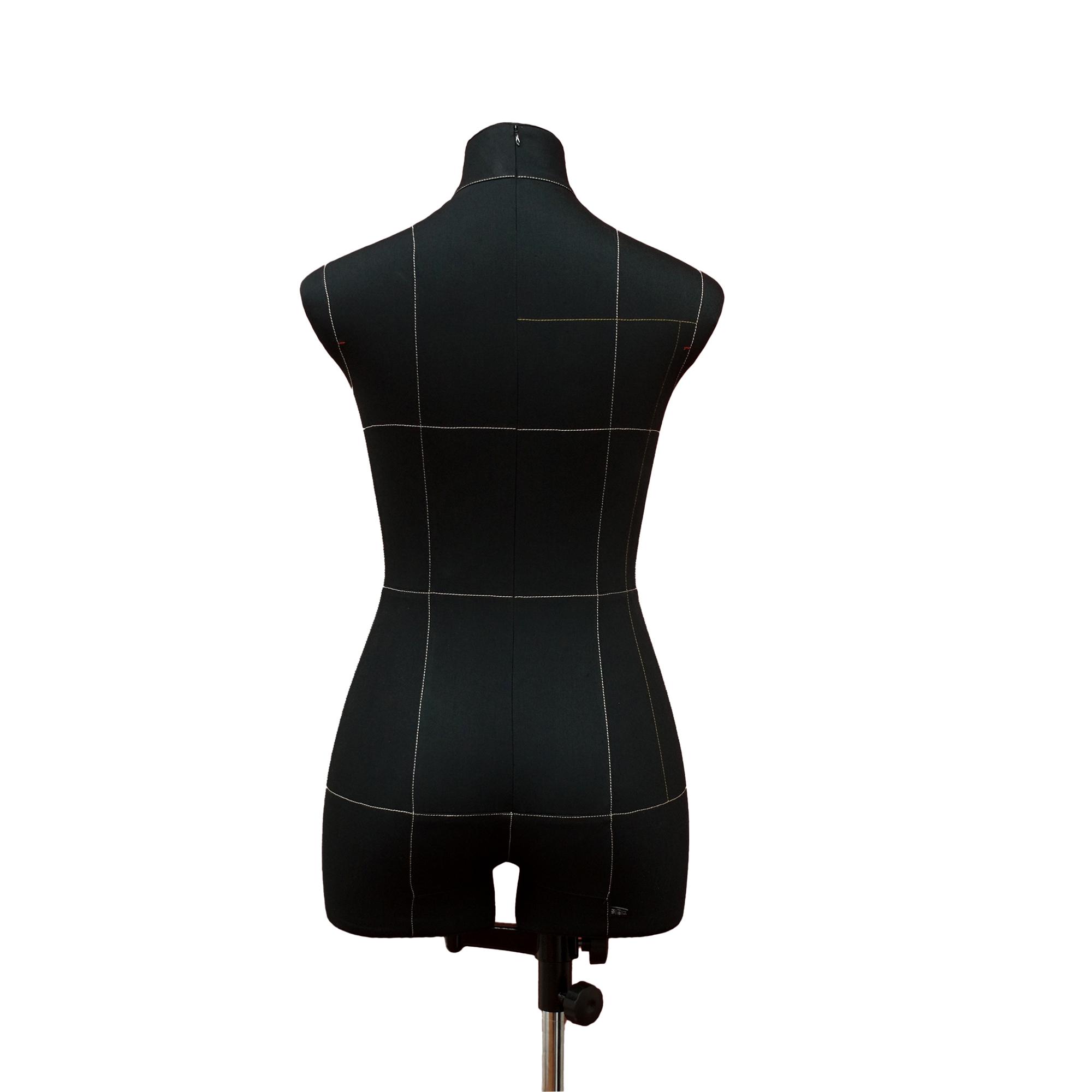 Манекен портновский Моника, комплект Премиум, размер 44, тип фигуры Песочные часы, черныйФото 1