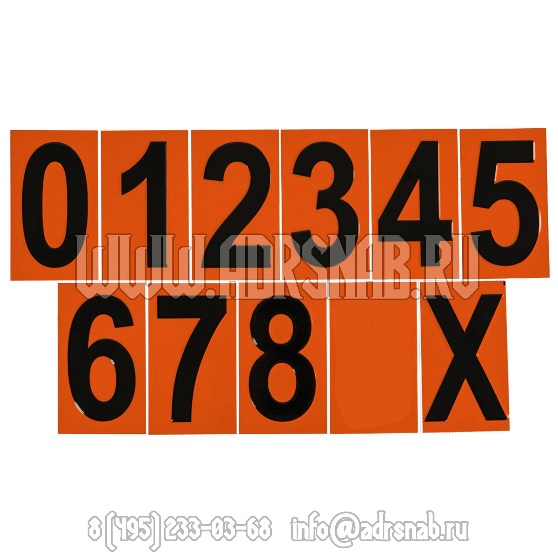 Цифры для наборных табличек