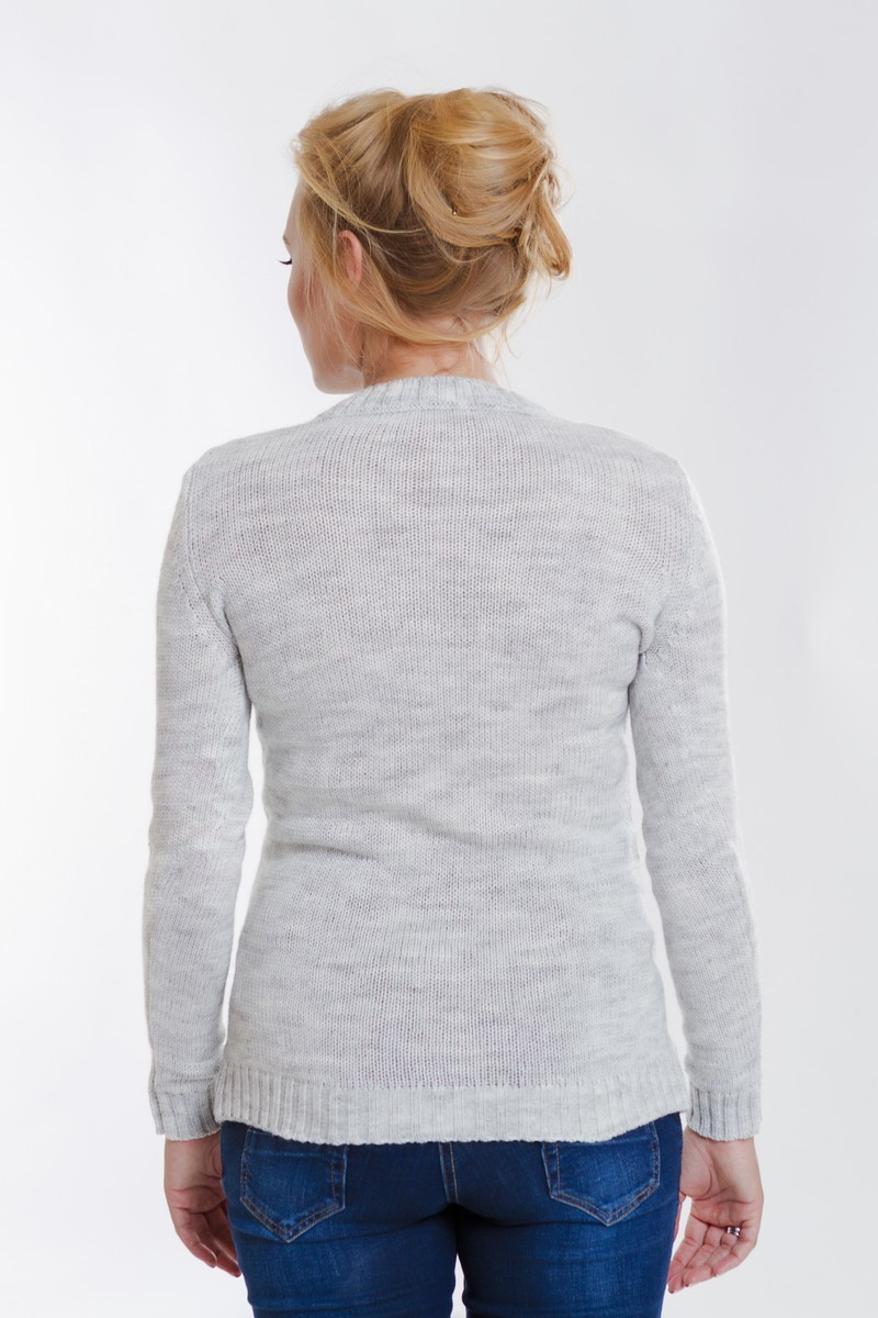 Свитер для беременных 07795 серый