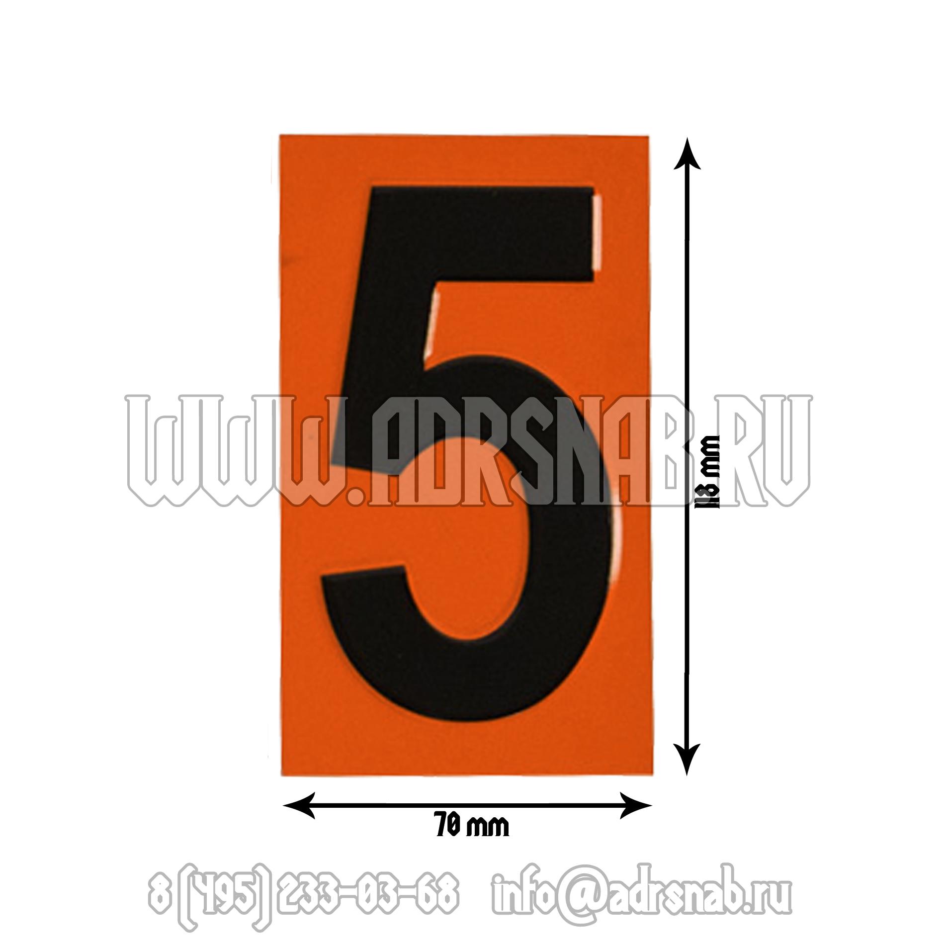 Цифры для наборных табличек размер
