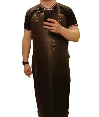 Мужской специальный длинный кожаный фартук
