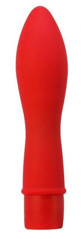 Красный вибратор Cloud Nine - 13,5 см.